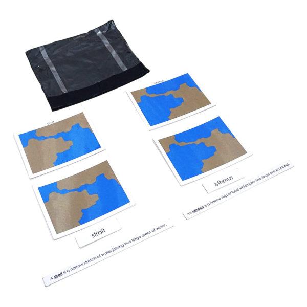 Montessori Premium 3 Part Control Cards - Land & water forms: 5 Pairs Image3