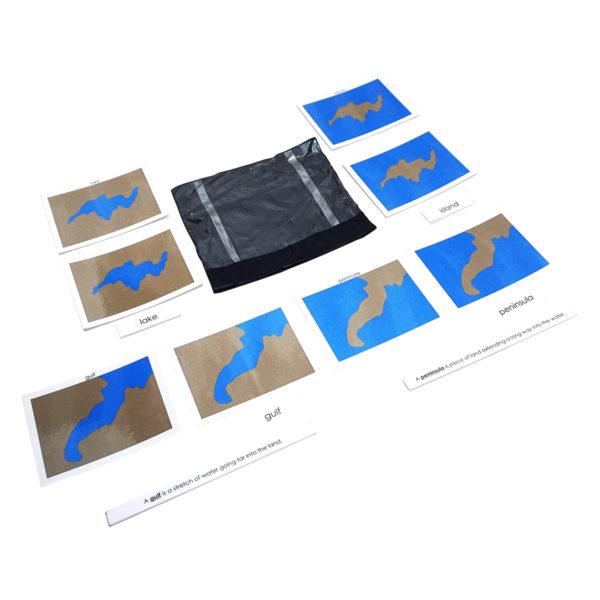 Montessori Premium 3 Part Control Cards - Land & water forms: 5 Pairs Image4