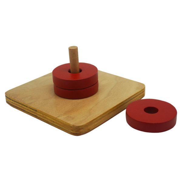 Montessori Premium Discs on Vertical Dowel Image3