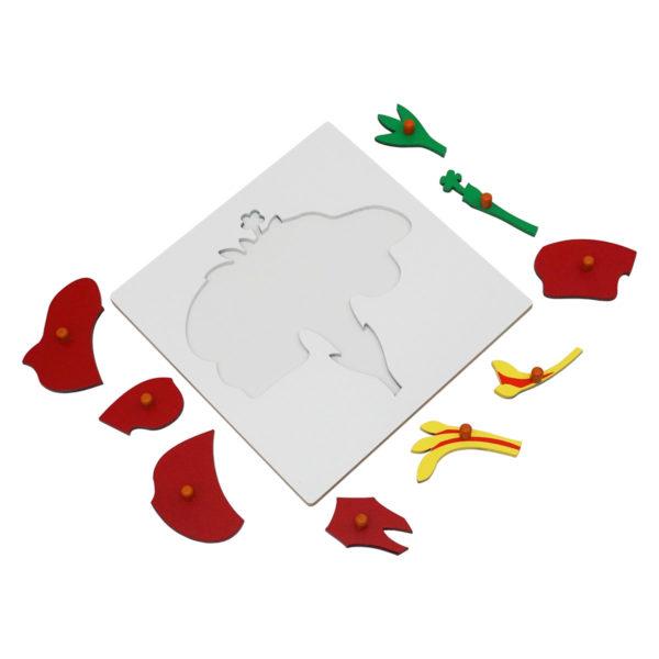 Montessori Premium Flower Puzzle Image3