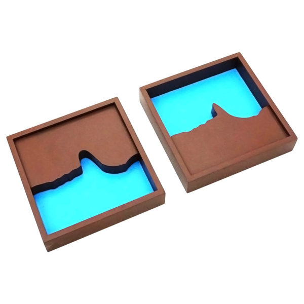 Montessori Premium Geography Land Form Trays: 3D Moulds - 6 Pairs Image5