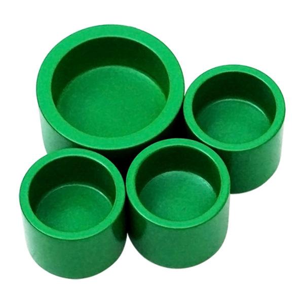Montessori Premium Green Cups for Decimal System Image2