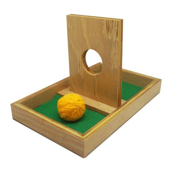 Montessori Premium Imbucare Board with Knit Ball Image2