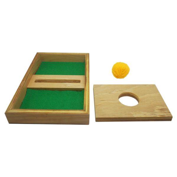 Montessori Premium Imbucare Board with Knit Ball Image3
