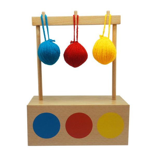 Montessori Premium Imbucare Box with 3 Coloured Knit Balls Image2