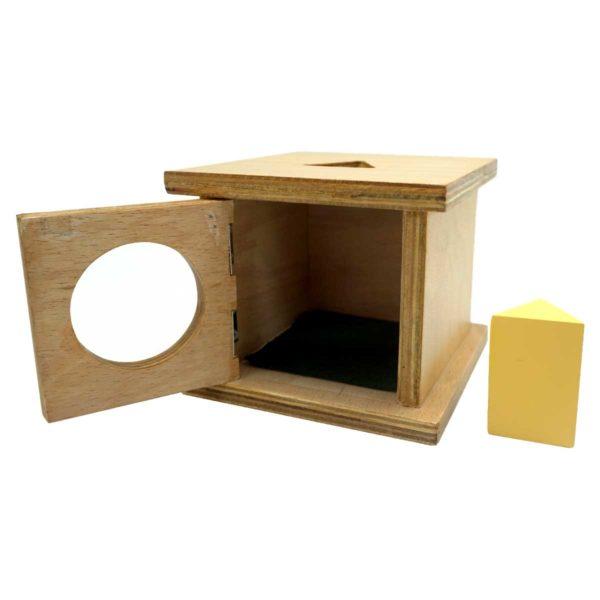 Montessori Premium Infant Imbucare Box with Triangular Prism Image4