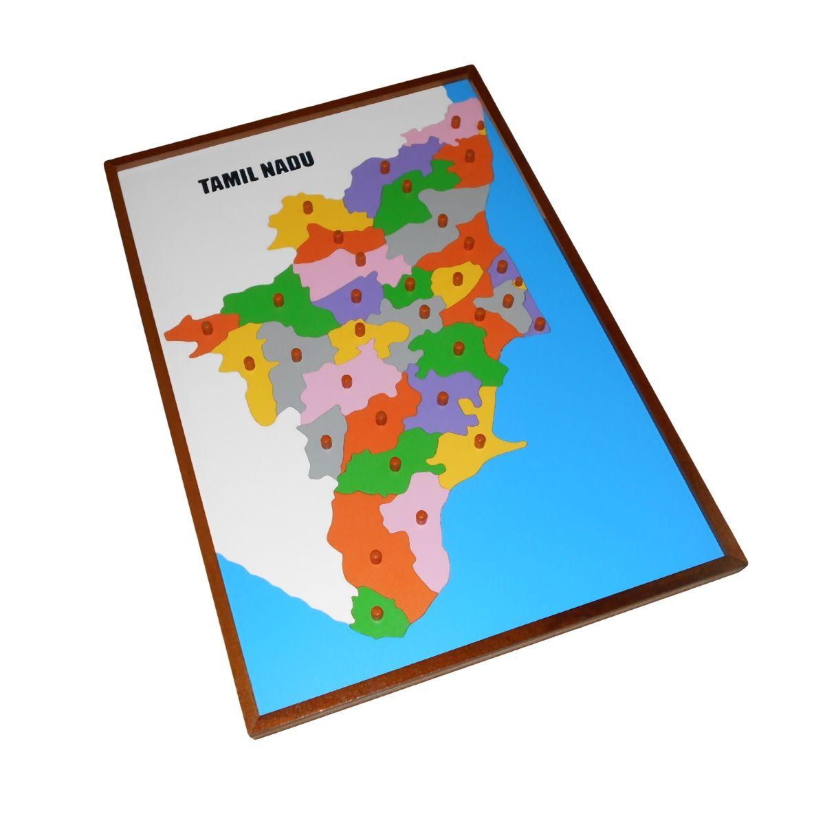 Map puzzle tamil nadu premium montessori materials and montessori map puzzle tamil nadu premium montessori materials and montessori furniture india gumiabroncs Choice Image