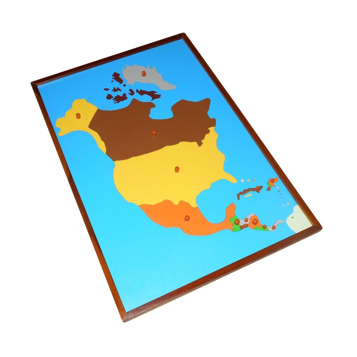 Map Puzzle North America Premium Montessori Materials And