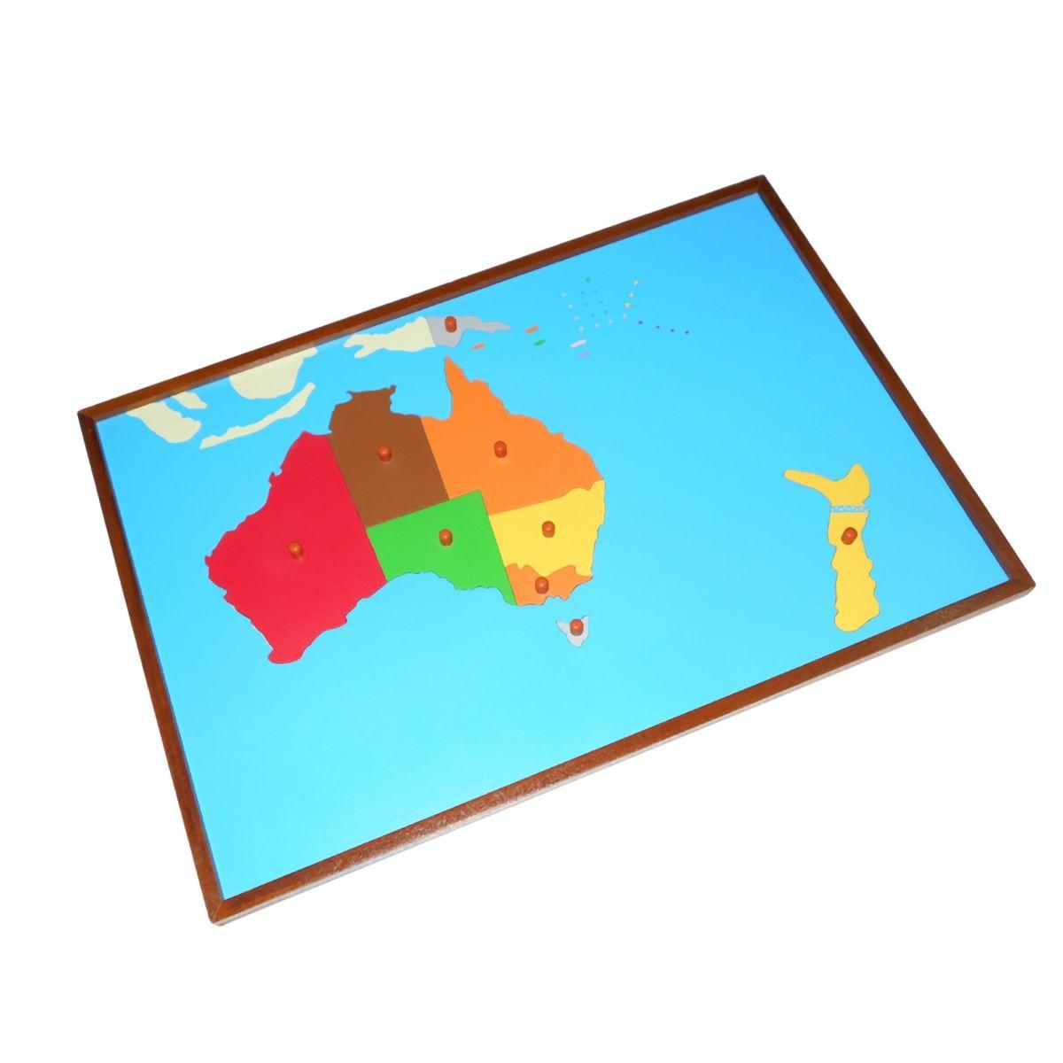 Australia India Map.Map Puzzle Australia