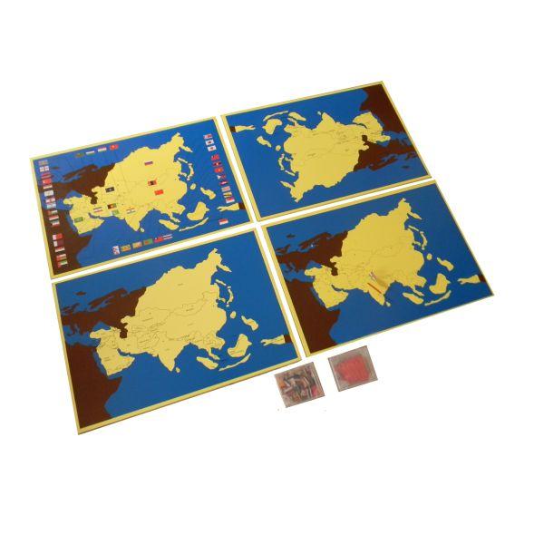 Asia pin maps set of 4 country capital flag control map asia pin maps set of 4 country capital flag control map premium montessori materials and montessori furniture india gumiabroncs Gallery