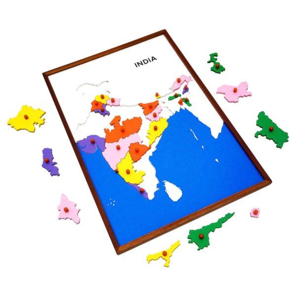 Montessori Premium Map Puzzle: India Image3
