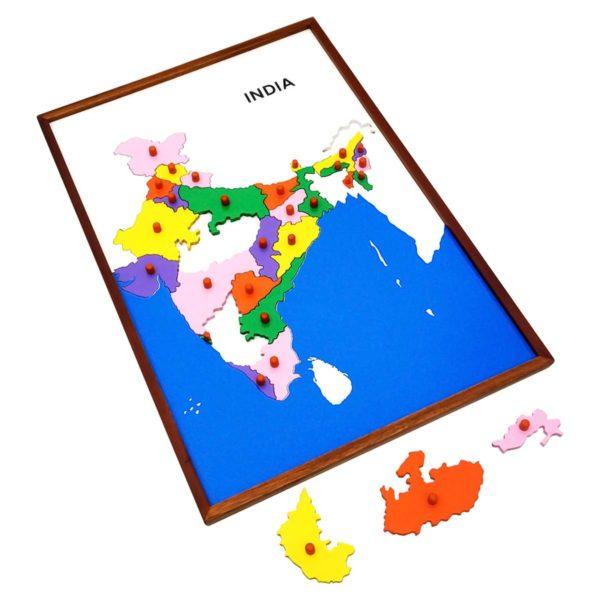 Montessori Premium Map Puzzle: India Image2