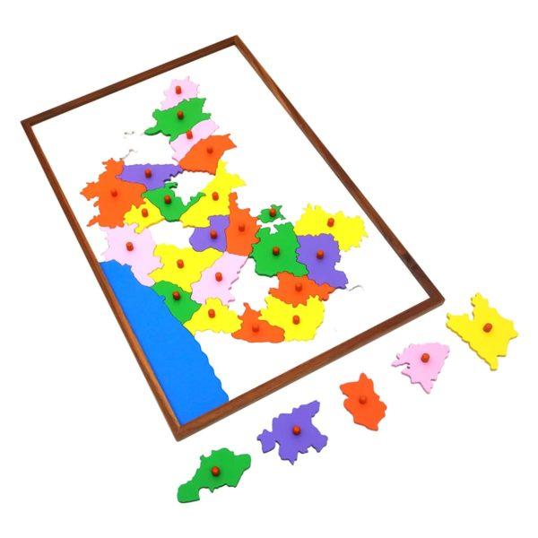 Montessori Premium Map Puzzle: Karnataka Image2