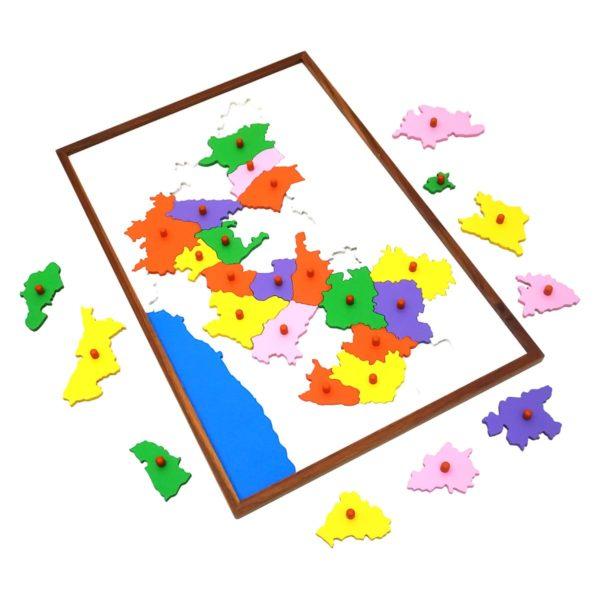 Montessori Premium Map Puzzle: Karnataka Image3