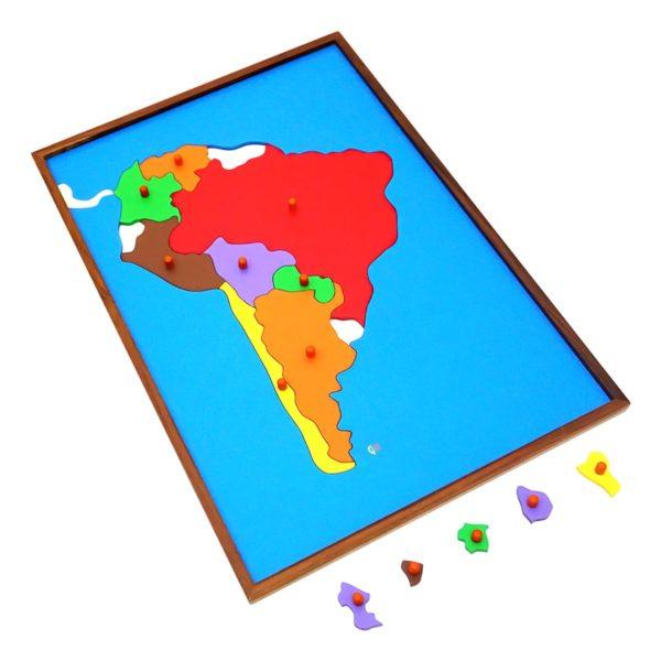 Montessori Premium Map Puzzle: South America Image2