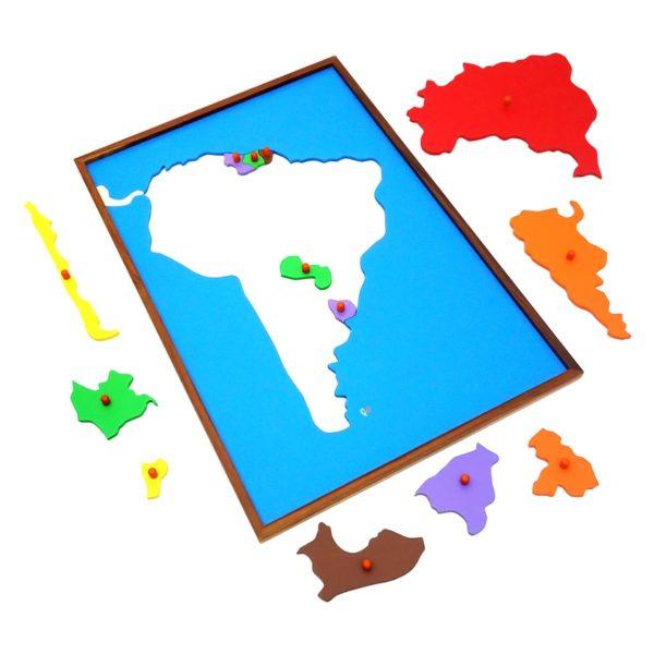 Montessori Premium Map Puzzle: South America Image3