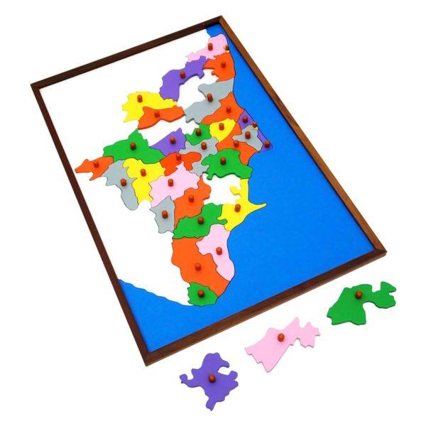 Montessori Premium Map Puzzle: Tamil Nadu Image2