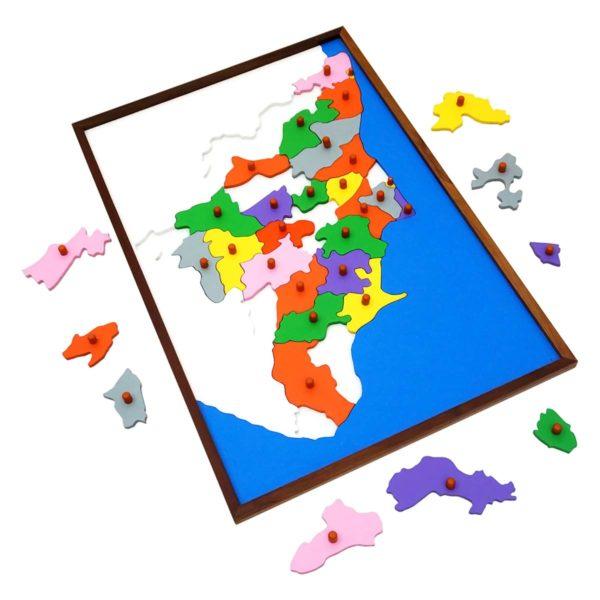 Montessori Premium Map Puzzle: Tamil Nadu Image3