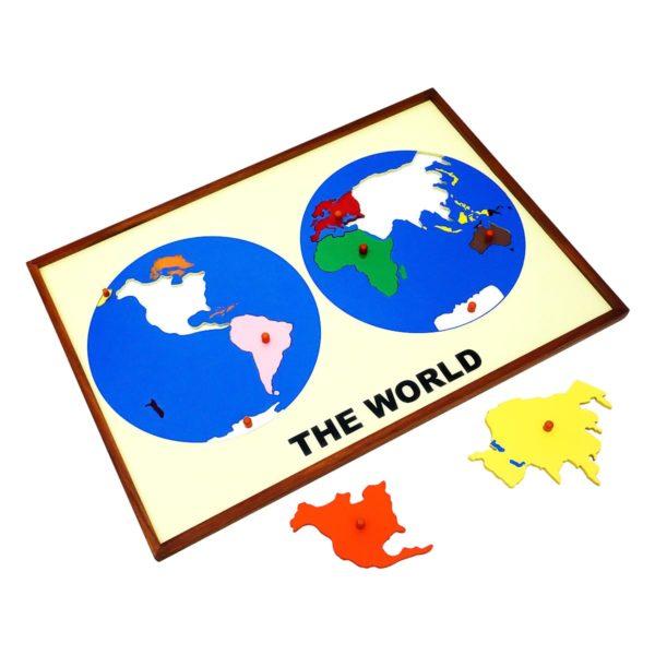 Montessori Premium Map Puzzle: World Image2
