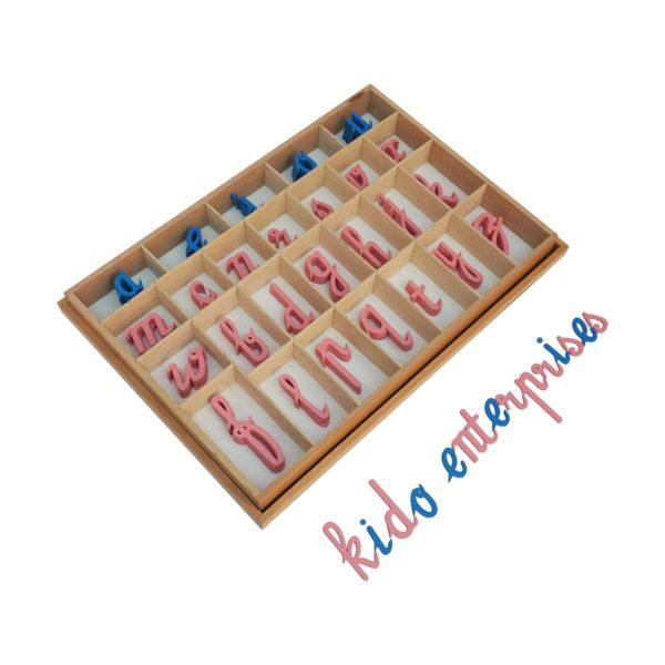 Montessori Premium Moveable Alphabet Cursive Large Wooden Image2