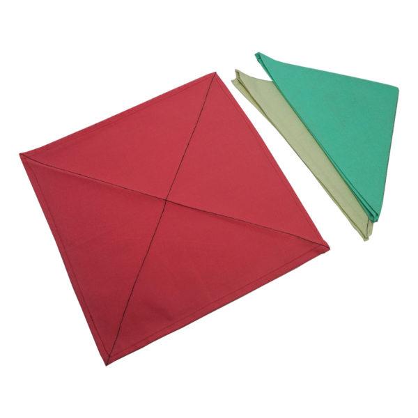 Montessori Premium Napkins for Folding (12) and Dusters (3) Image2