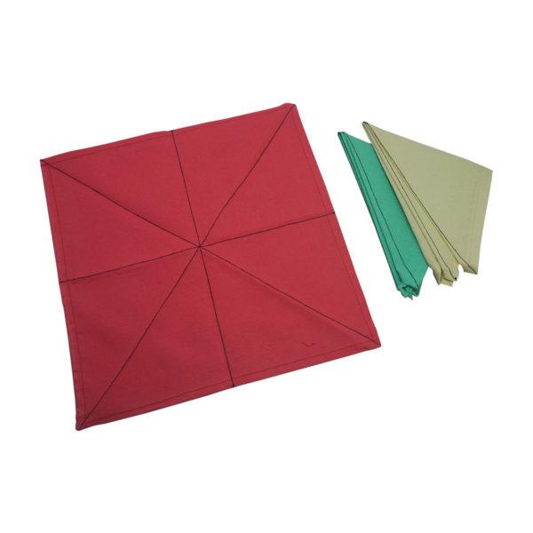 Montessori Premium Napkins for Folding (12) and Dusters (3) Image3