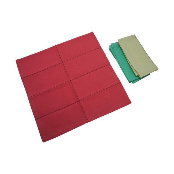 Montessori Premium Napkins for Folding (12) and Dusters (3) Image4