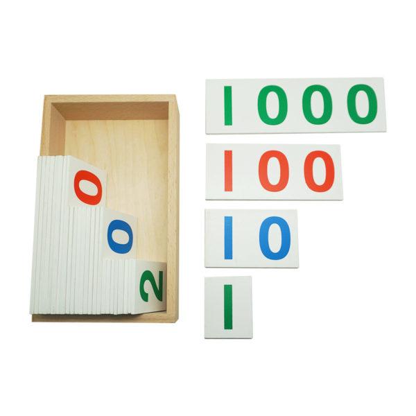 Montessori Premium Number Cards 1 to 1000 Image3