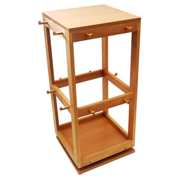 Montessori Premium Revolving Stand: 8 Button Frames Image2