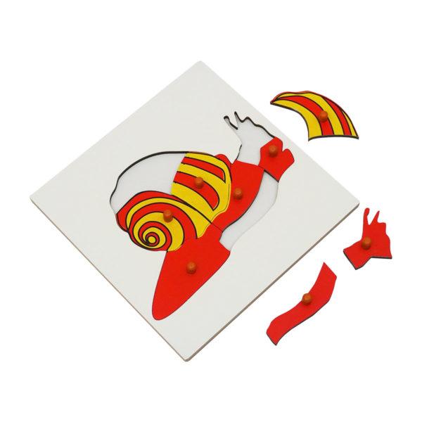 Montessori Premium Snail Puzzle Image2