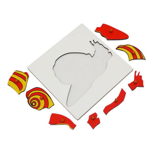 Montessori Premium Snail Puzzle Image1