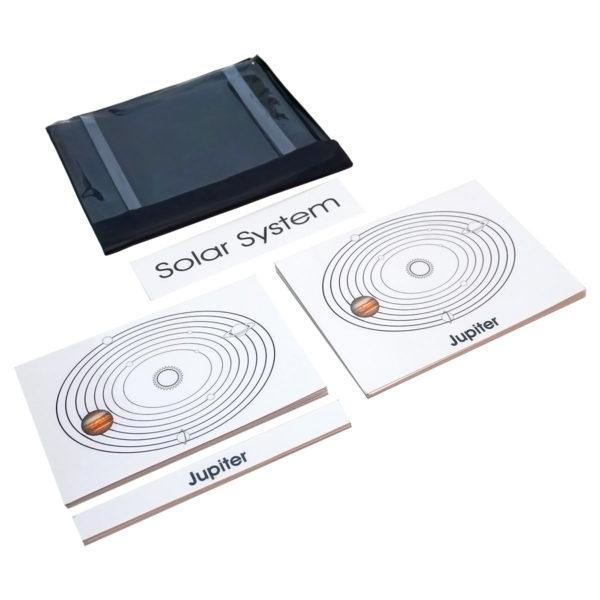 Montessori Premium Solar System: 3 Part Nomenclature Cards Image2