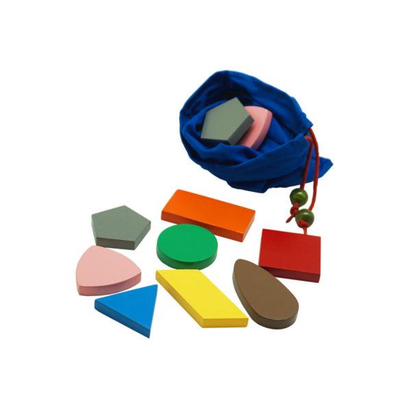 Montessori Premium Stereognostic Bag: 2D Shapes Image2