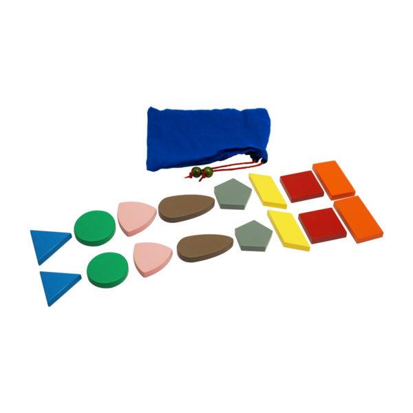 Montessori Premium Stereognostic Bag: 2D Shapes Image3