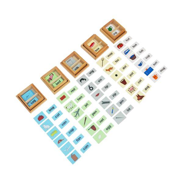 Montessori Premium Vowel Boxes Print (2 Part Cards) Image2