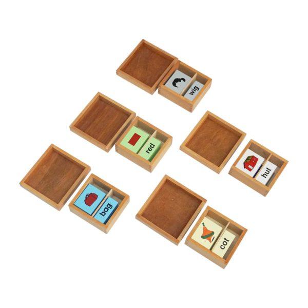 Montessori Premium Vowel Boxes Print (2 Part Cards) Image3